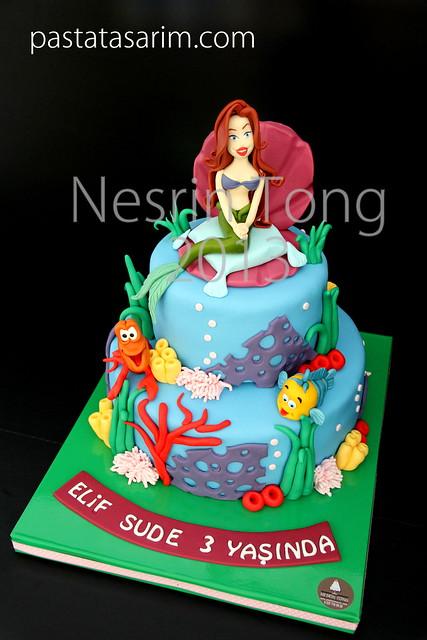 marmaid ariel cake
