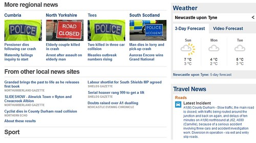 BBC news webpage 7 April 2013