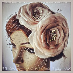 #etsy #eco #wedding #handmade #veil #birdcage #blush #rose #antique #vintage #flower #spring #nude #ecru #fascinator #headpiece #headband #coctail #prom #ball #engagement #beige #barrette #comb