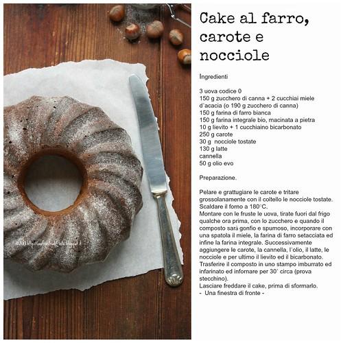 Cake al farro, carote e nocciole