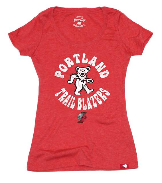 Womens Portland Trail Blazers Grateful Dead Shirt