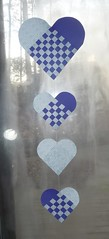 Swedish heart hanging mobile