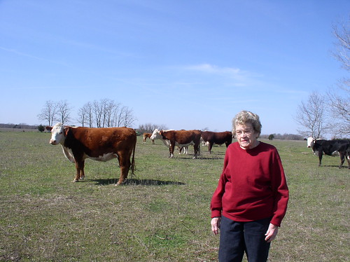 "Pointing in the direction of success, Annie Woodson's cattle are content roaming their Texas pasture with ""the boss,"" their matron of operations who's been caring for cattle for 76 of her 100 years."