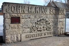 John M King School tablet