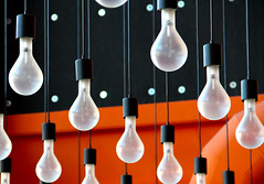 Light Bulbs in the ArtsQuest Center