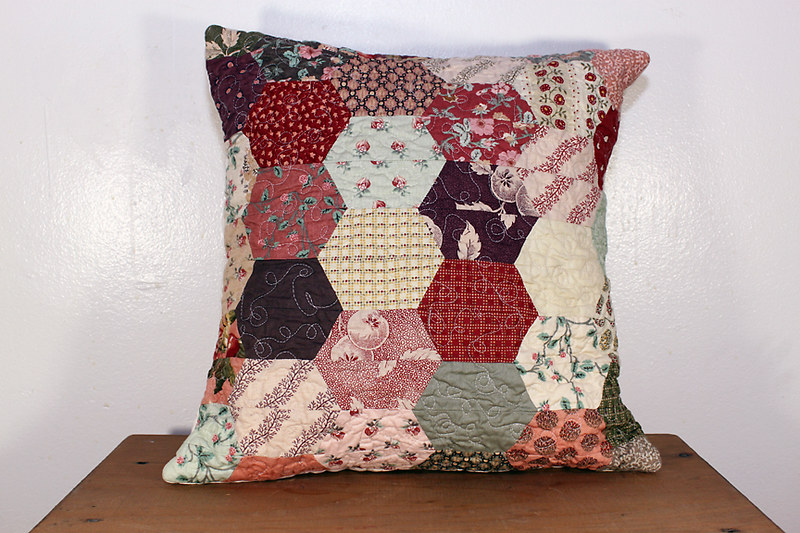 Half Hexagon Pillow Cover