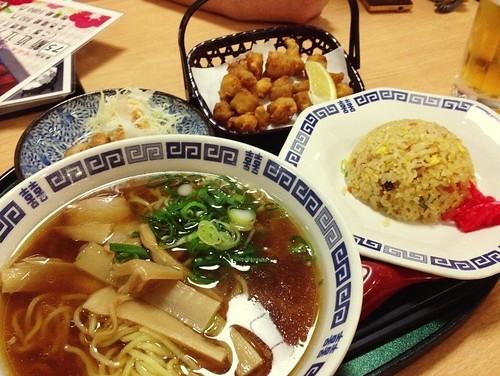 ラーメン&炒飯セット@スーパー銭湯