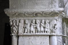 Girona. Claustre de la catedral. Fris de la història de Jacob