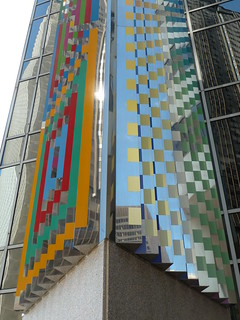 "Chicago, ""Communication X9"" by Yaakov Agam, Abstract Sculpture with Building Reflections"