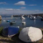 Boats in the harbor Isala Tabarca