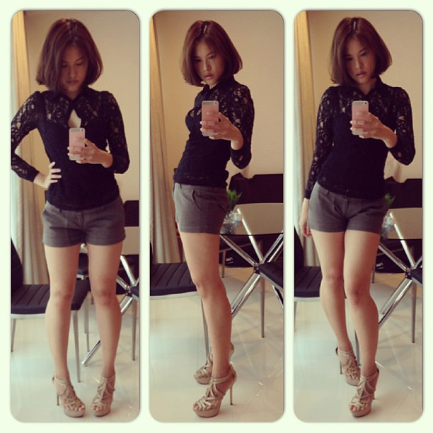 Ootd. Zara lace top and Charles and Keith shoes. #fashion #ootd #ootn #lotd #lookoftheday #outfit #outfitoftheday #zara #lace #charlesandkeith #heels #5inch