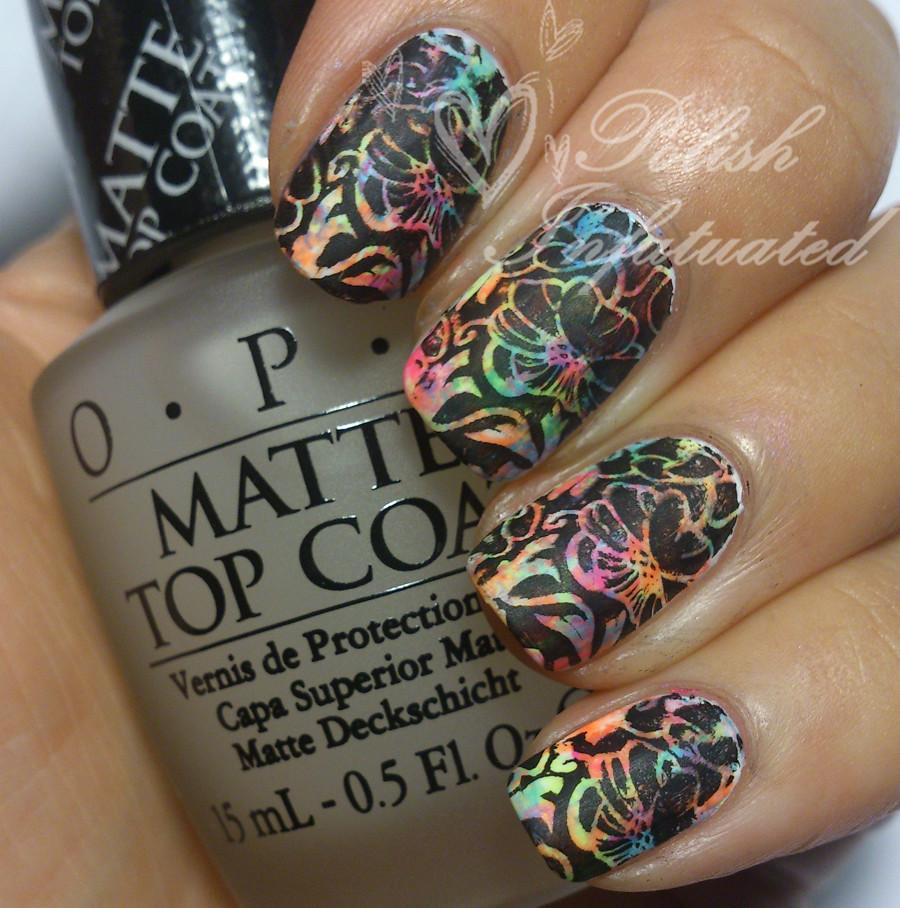 neon flowers matte