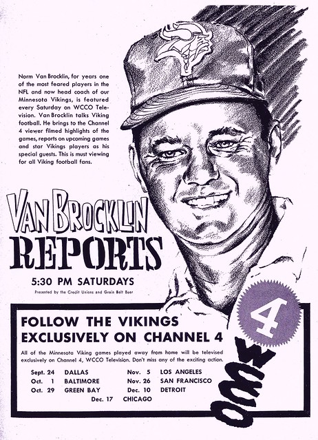 Van Brocklin Reports, WCCO-TV, 1961