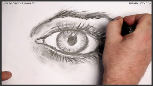 learn how to draw a human eye 028