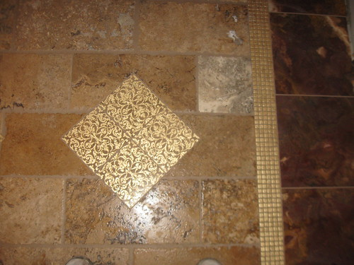 Travertine and marble tile designs