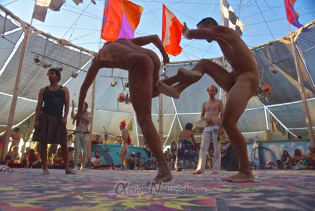 naturist capoeira 0107 Burning Man 2012, Black Rock City, NV, USA