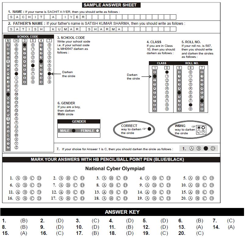 NCO 2nd Level Sample Papers - Class 4