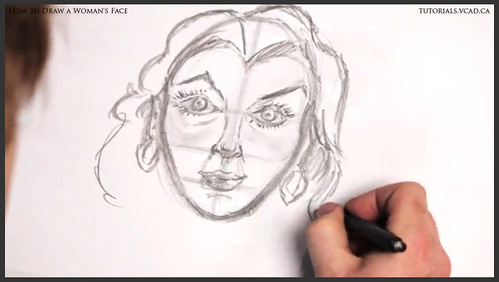 learn how to draw a womans face 019
