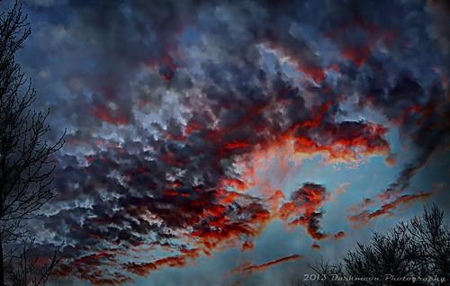 sunset cold weather clouds gimp creepy textures hdr demons darkmoon photomatix skiy skydemons joessistah