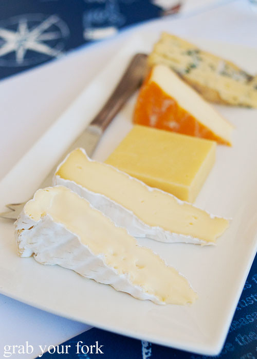 King Island Dairy cheeses Furneaux Double Cream; Cape Wickham Double Brief; Surprise Bay Cheddar; Black Label Huxley Washed Rind and Roaring 40s Blue