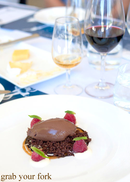 chocolate delice dessert at Margan Wines in Broke, Hunter Valley
