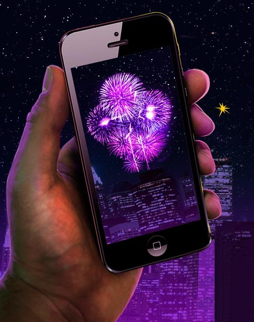 Using your mobile phone to capture great firework for Epic cell phone