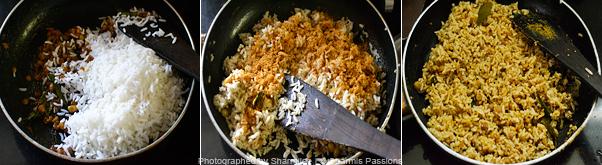 How to make puliyodharai - Step3
