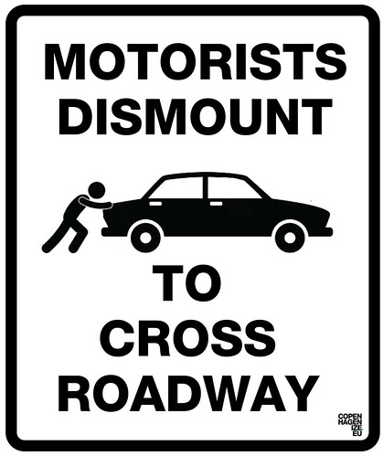 Motorists Dismount by Mikael Colville-Andersen