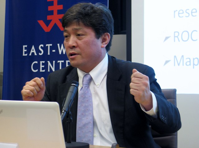 Professor at University of Tokyo, Dr. Yasuhrio Matsuda examined all angles of the current dispute between Japan and China over the Senkaku-Diaoyutai islands to a full-house at the East-West Center in Washington.