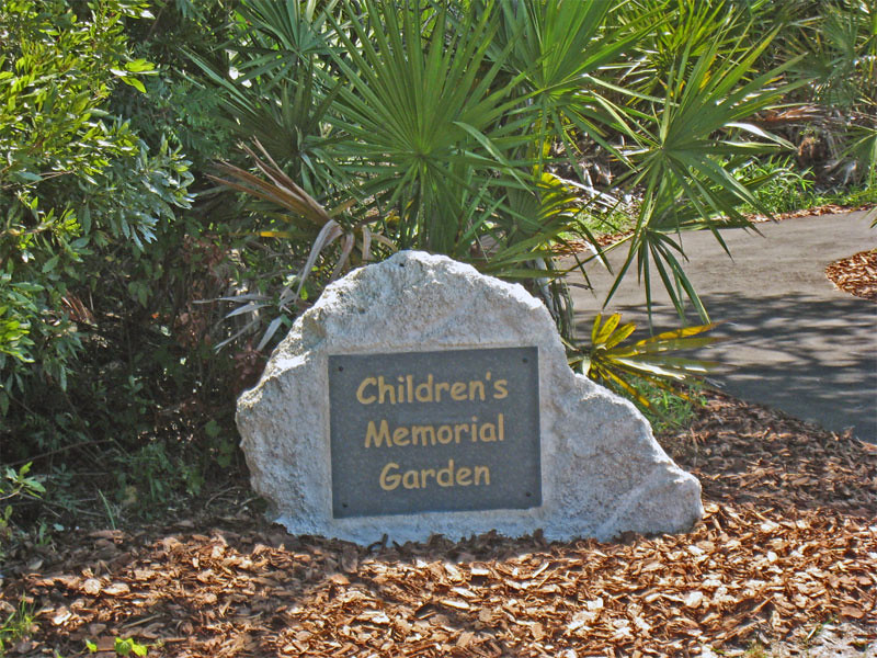 Childrens Memorial Garden City of Palm Coast Florida