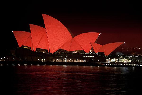 Red Sydney Opera House