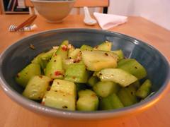 Sichuan cucumber salad