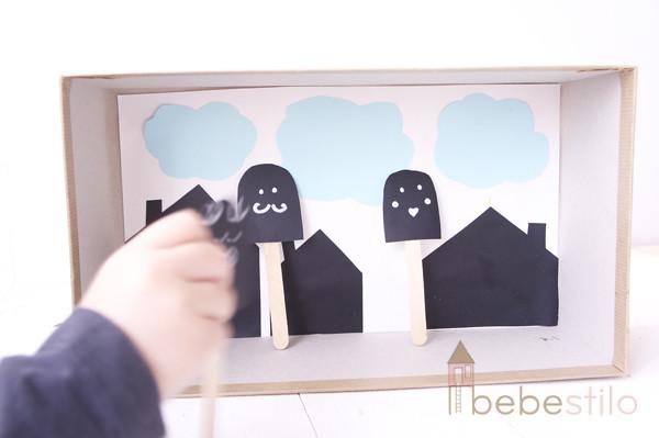The Kit Project DIY Teatro de marionetas de dedo - manualidades para niños, los tres cerditos  y el lobo DIY Finger Puppets