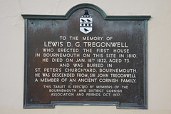 Photo of Lewis D. G. Tregonwell brown plaque