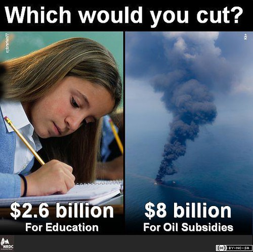Which would you cut? Education or Oil Subsidies