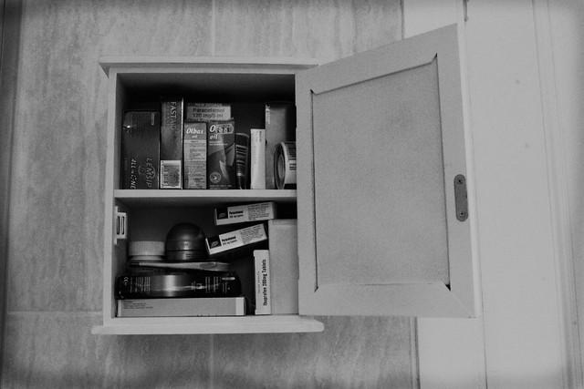 vintage look medicine cabinet