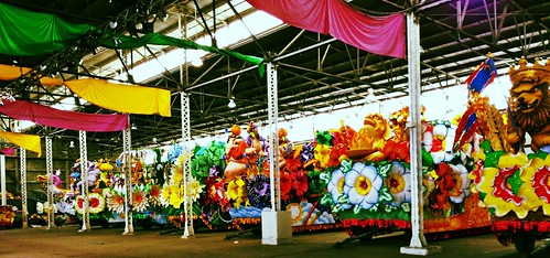 Float den, Mardi Gras World, New Orleans