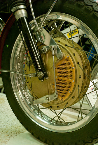NMM A georgeous Fontana front brake, cast in magnesium alloy. by John Gulliver