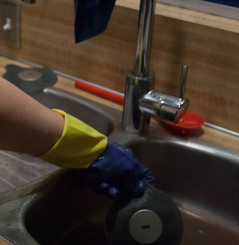draining the sink