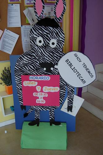 Cebra Camila Lectora de la Escuela Infantil Ailantos