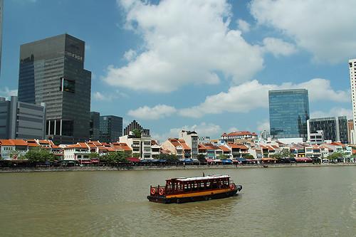 Boat Quay restaurants and shops
