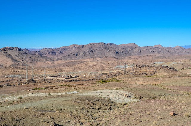 Phosphate mining area in Morocco (Bouazzer)