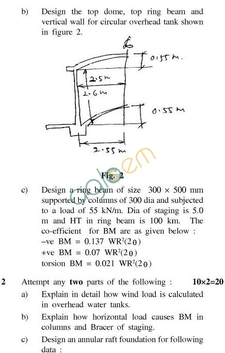 UPTU B.Tech Question Papers - CE-031-Advanced Concrete Design