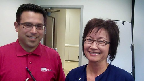 Simon Gallardo—PSS Supervisor at South Shore Orthopedics, and Cindy Wicker—LVN at Island Pediatrics