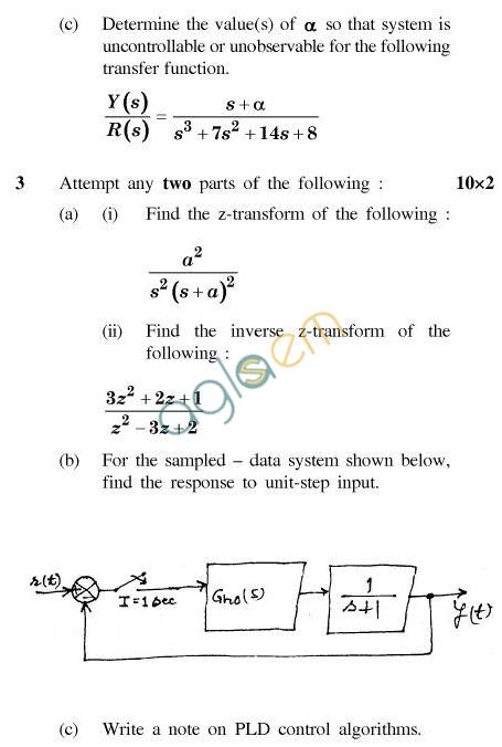 UPTU B.Tech Question Papers - IC-032-Computerised Process Control