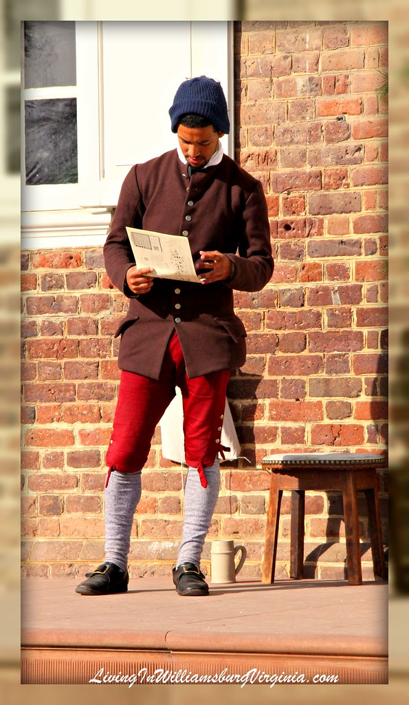 Young Colonial With Handbill
