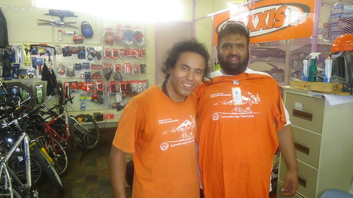 Moosa Angamia with T-shirt