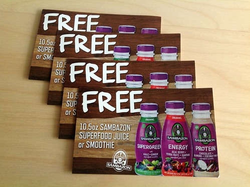 Sambazon Smoothies & Juices Coupon Giveaway
