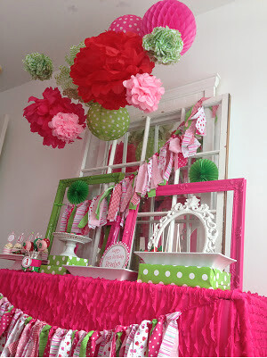 Strawberry Party by wonderfullymadeevents.com