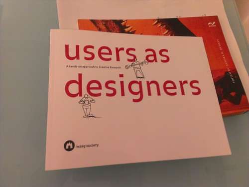 image of a booklet called users as designers